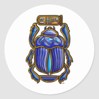 Ancient Egyptian Scarab Round Sticker