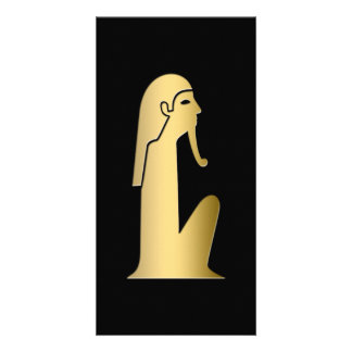 Ancient Egyptian seated figure Card