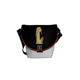 Ancient Egyptian seated figure Messenger Bag