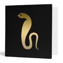 Ancient Egyptian snake – goddess Renenutet 3 Ring Binder