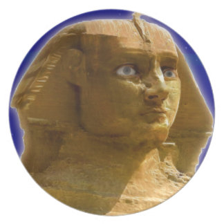 Ancient Egyptian Sphinx at Giza Art Design Dinner Plate