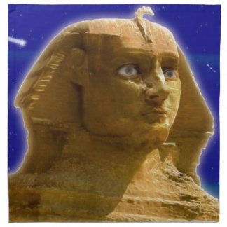 Ancient Egyptian Sphinx at Giza Art Design Napkin