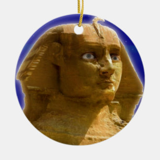 Ancient Egyptian Sphinx at Giza Art Design Christmas Ornament