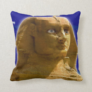 Ancient Egyptian Sphinx at Giza Art Design Pillow