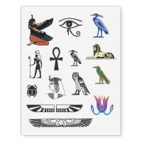 Ancient Egyptian Symbols Temporary Tattoos