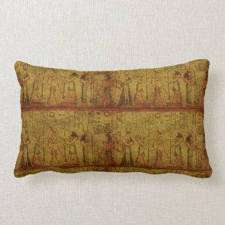 Ancient Egyptian Temple Wall Art Lumbar Pillow