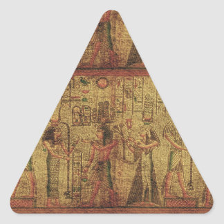 Ancient Egyptian Temple Wall Art Triangle Sticker