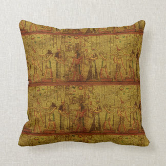 Ancient Egyptian Temple Wall Art Throw Pillow