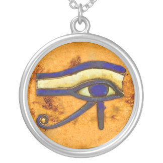 Ancient Egyptian The Eye of Horus Silver Plated Necklace