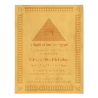 Ancient Egyptian Themed Birthday Party Invitations