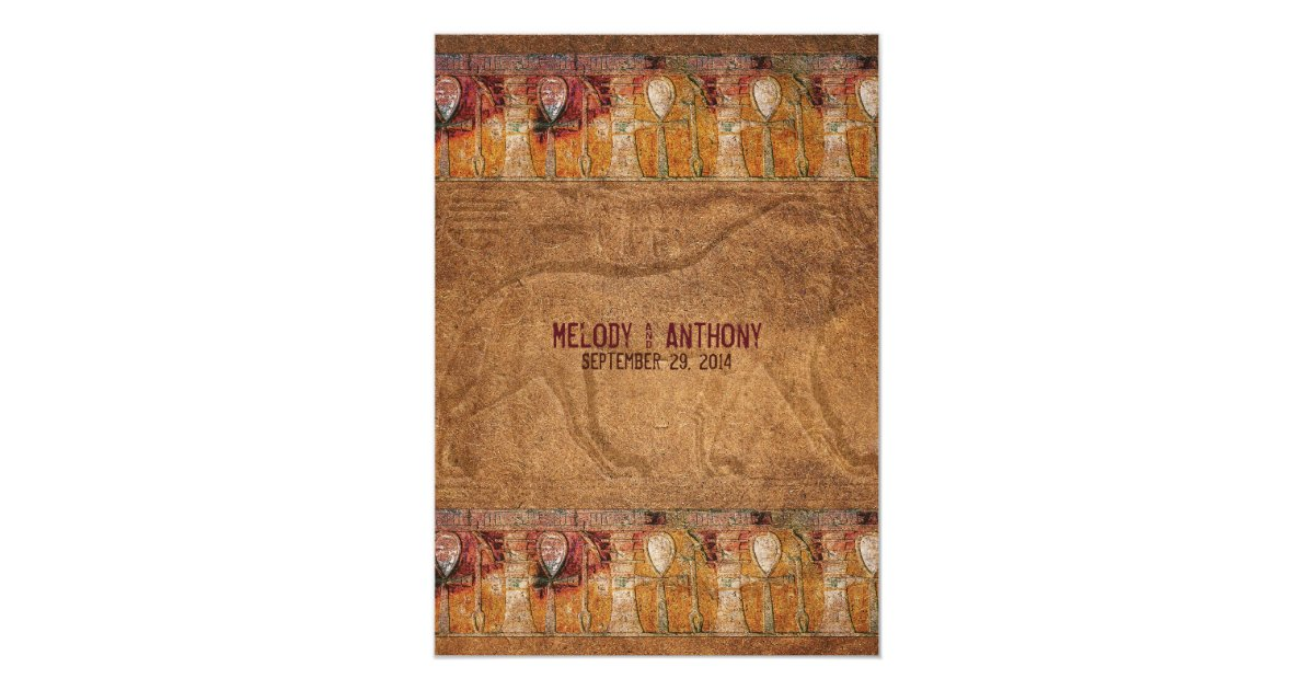 Ancient Egyptian Themed Wedding Invitation | Zazzle.com