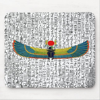 Ancient Egyptian Winged Scarab Mouse Pad