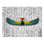 Ancient Egyptian Winged Scarab Postcard