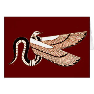 Ancient Egyptian Winged Serpent Symbol Greeting Card