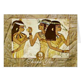 Ancient Egyptian Women with Essential Oils Thanks Card
