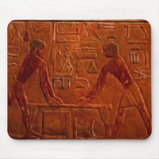 Ancient Egyptian Workmen at Sanding Table Mouse Pad