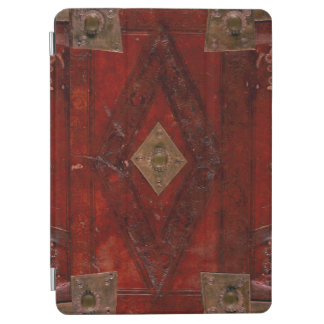 Ancient Embossed Leather And Brass Book Cover