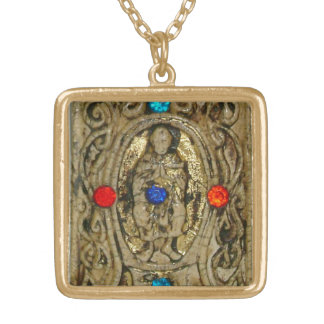 ANCIENT  ENCHANTMENT TALISMAN GOLD PLATED NECKLACE