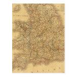 Ancient English Map Post Card
