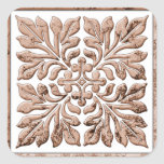 Ancient english tile cool faded brown stickers