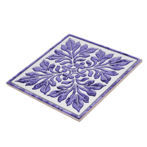 Ancient english tile cool purple