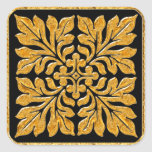 Ancient english tile shiny bright gold stickers
