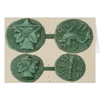 Ancient Etruscan Janus Coins Card