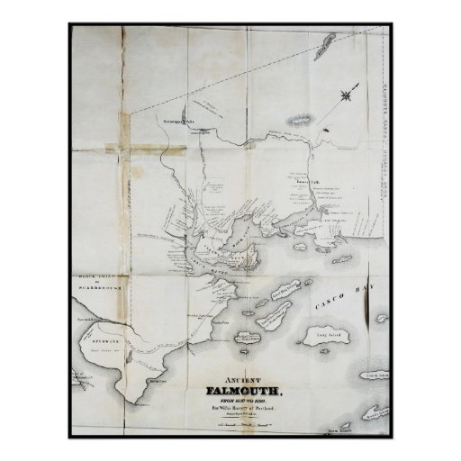 Ancient Falmouth From 1630 to 1690 Poster