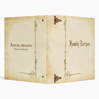 Ancient Family Cookbook 3 Ring Binder