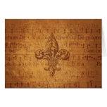 Ancient Fleur De Lis Card