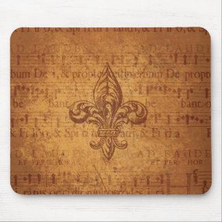 Ancient Fleur De Lis Mouse Pad