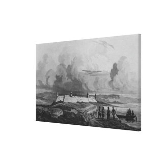 Ancient Fort on the Rio-Grande, from 'Bresil Canvas Print