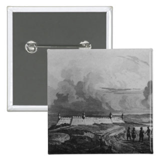 Ancient Fort on the Rio-Grande, from 'Bresil Pinback Button