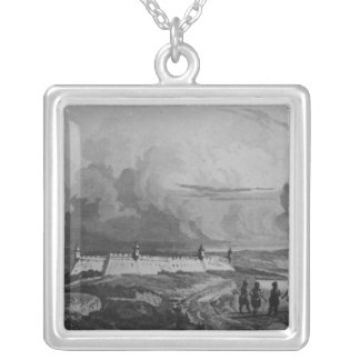 Ancient Fort on the Rio-Grande, from 'Bresil Silver Plated Necklace