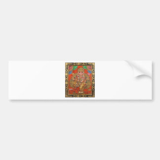 ANCIENT GANESH HAND PAINTINING BUMPER STICKER