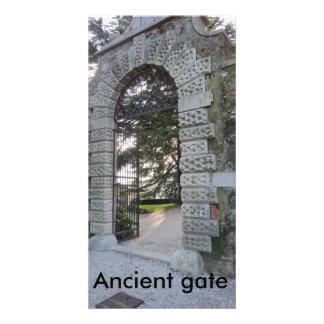 Ancient gate photo card