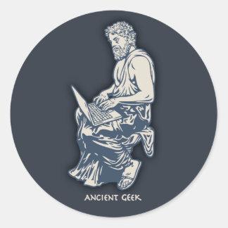 Ancient Geek Classic Round Sticker