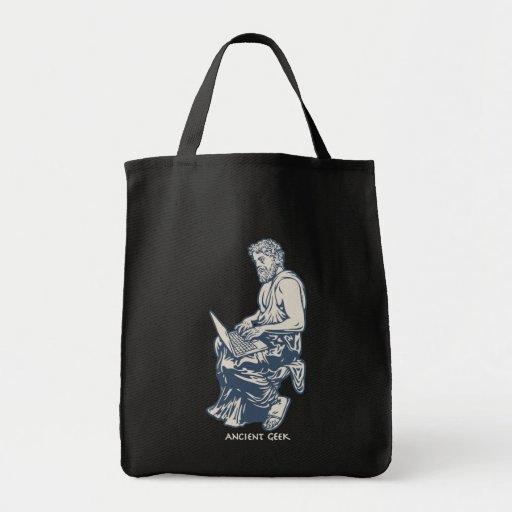 Ancient Geek Grocery Tote Bag