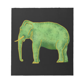 Ancient Gold and Jade Elephant Notepad
