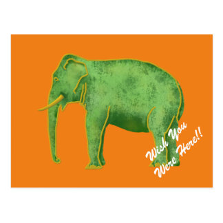 Ancient Gold and Jade Elephant Postcard
