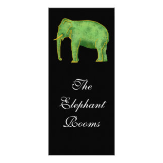 Ancient Gold and Jade Elephant Rack Card