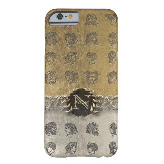 Ancient Gold & Platinum Monogram Barely There iPhone 6 Case