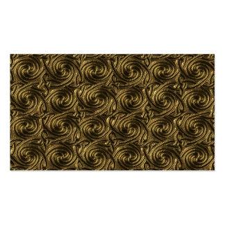Ancient Golden Celtic Spiral Knots Pattern Business Cards