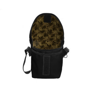 Ancient Golden Celtic Spiral Knots Pattern Courier Bag