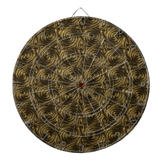 Ancient Golden Celtic Spiral Knots Pattern Dartboard