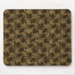 Ancient Golden Celtic Spiral Knots Pattern Mouse Pad