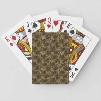 Ancient Golden Celtic Spiral Knots Pattern Playing Cards
