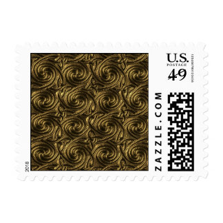 Ancient Golden Celtic Spiral Knots Pattern Postage