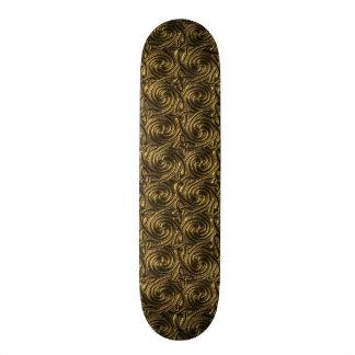 Ancient Golden Celtic Spiral Knots Pattern Skateboard