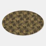 Ancient Golden Celtic Spiral Knots Pattern Oval Sticker